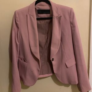 Blush Fitted Blazer